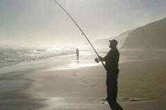 Fishing  on the coast from Belinda
