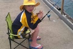 Beautiful boy, Blake, fishing on Wallaroo Jetty SA.
