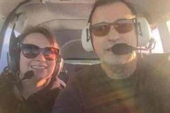 Dad flying
