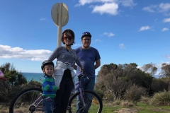 Big Devonport beaches bike ride with family.