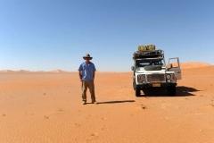 Crossing the Empty Quarter (the English name for the Rub' Al Khali desert) Oman rear the Saudi Arabi.