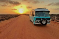 This is our Bus Bessy, who we have been living in and travelling around Australia in for nearly 2 years .