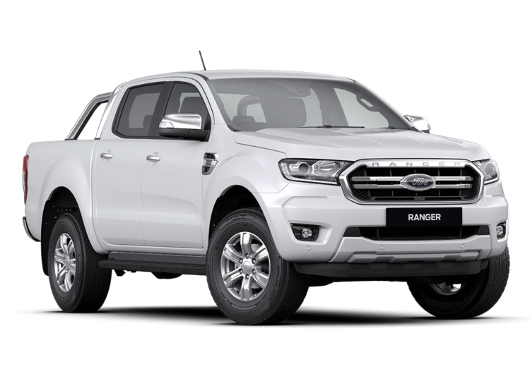 White, New Model Ford Ranger XLT Dual Cab