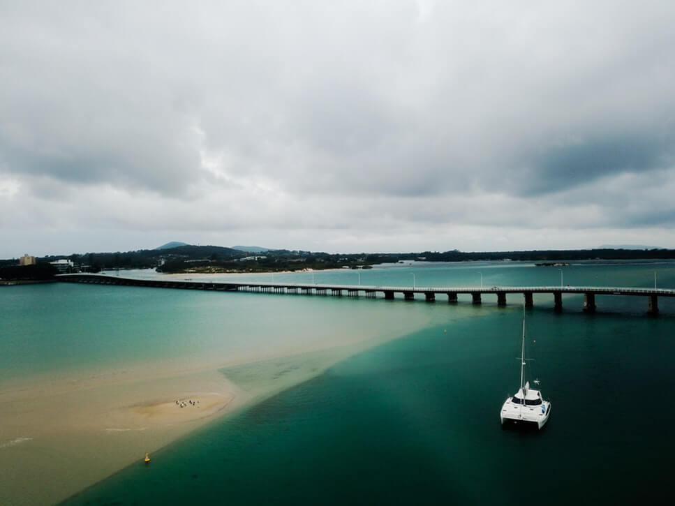 Bridge across the water connecting Forster & Tuncurry in NSW