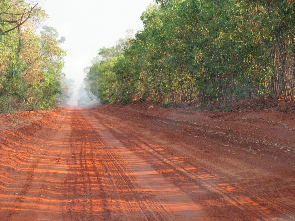 Red dirt road of the Cape Leveque Track in Western Australia